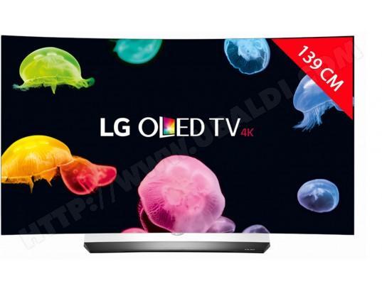 """TV 55"""" LG OLED55C6V - Oled, 4K UHD, incurvé, 3D, 139 cm (+ possibilité d'obtenir gratuitement une barre de son LG à 500€ via ODR)"""