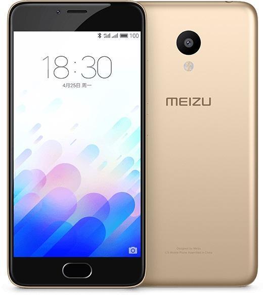"""Smartphone 5"""" Meizu M3 Mini Or - IPS HD, RAM 2 Go, 16 Go, 3020mAh"""