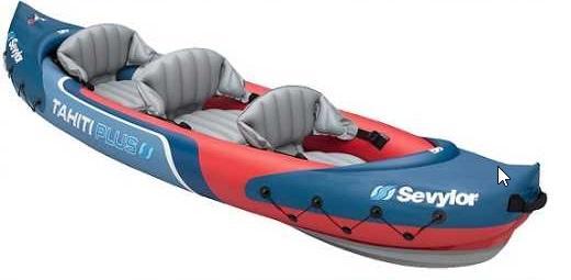 Kayak gonflable Sevylor Tahiti Plus pour 3 personnes - Bleu