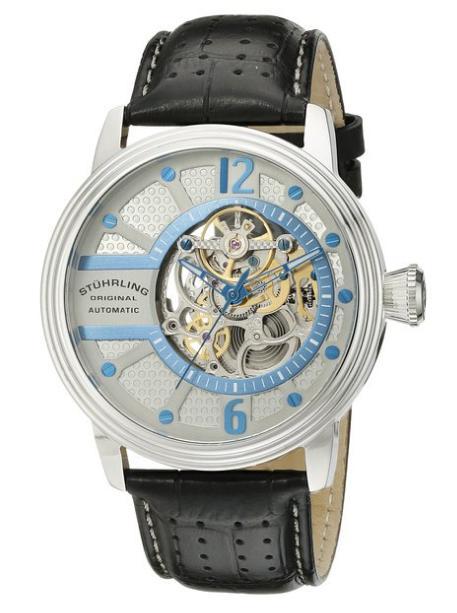 Sélection de montres Stuhrling en promo - Ex : Montre Stuhrling Original pour Homme - Automatique, Analogique, Bracelet Cuir
