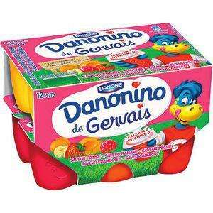 Lot de 2 packs de 12 yaourts Gervais Danonino - 50 g (via BDR)