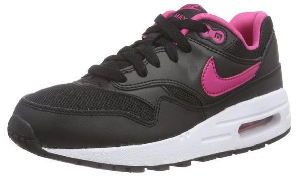 Chaussures basses Nike Air Max 1 (noir / rose, du 36 au 38)