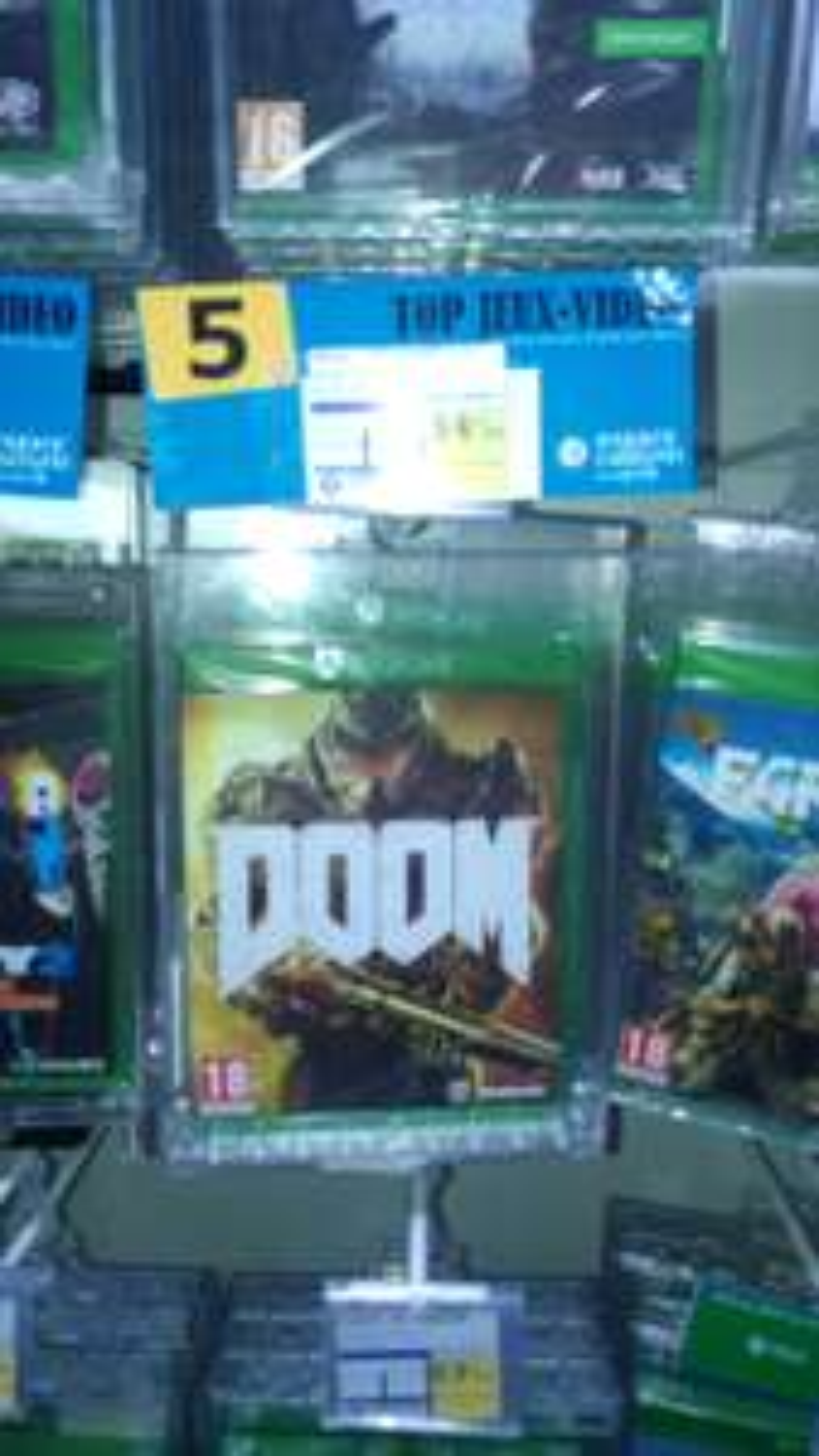 Jeu Doom sur Xbox one