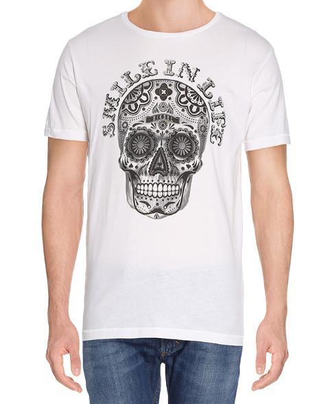 Tee-shirt Diesel - blanc (motif Tête de Mort, du S au XXL)