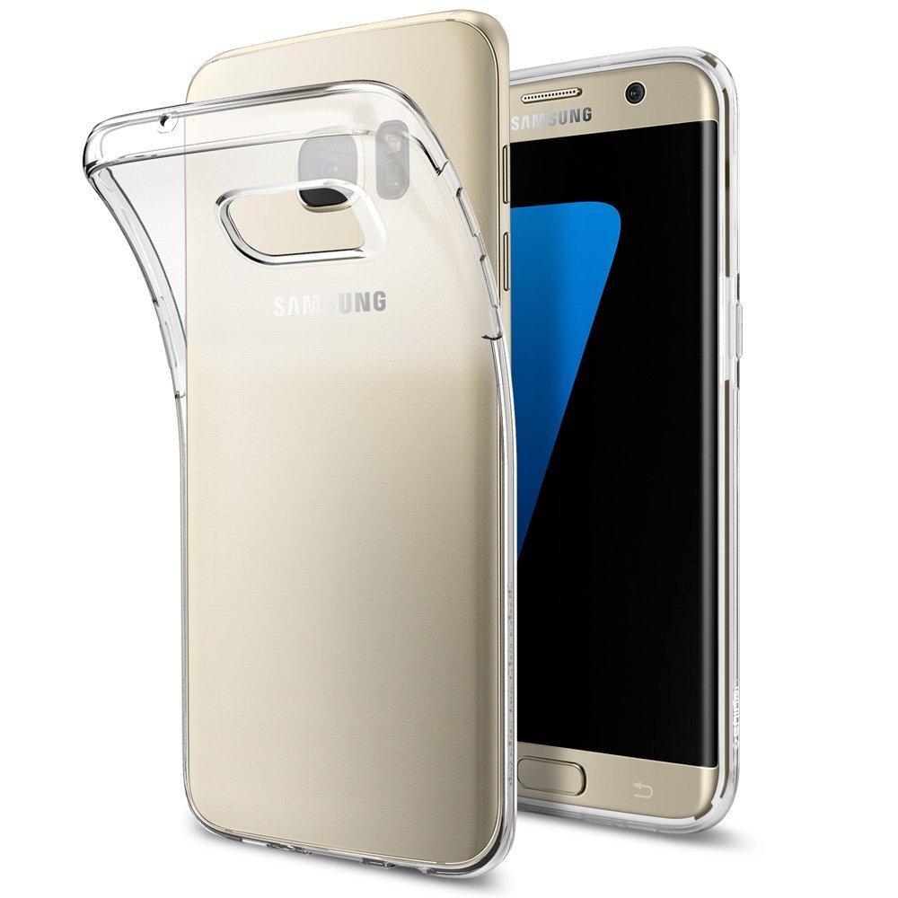Coque Spigen en silicone pour Samsung Galaxy S7 Edge