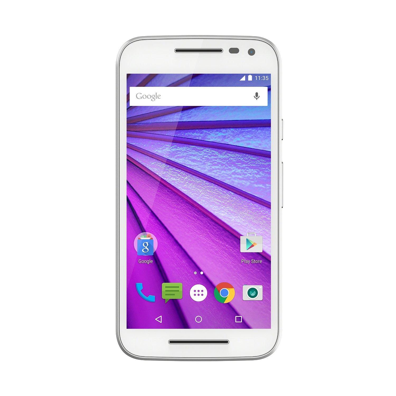 """Smartphone 5"""" Motorola Moto G 3ème Génération Blanc - HD, Quad-Core Snapdragon 410 1,4 Ghz, RAM 2Go, 16Go"""