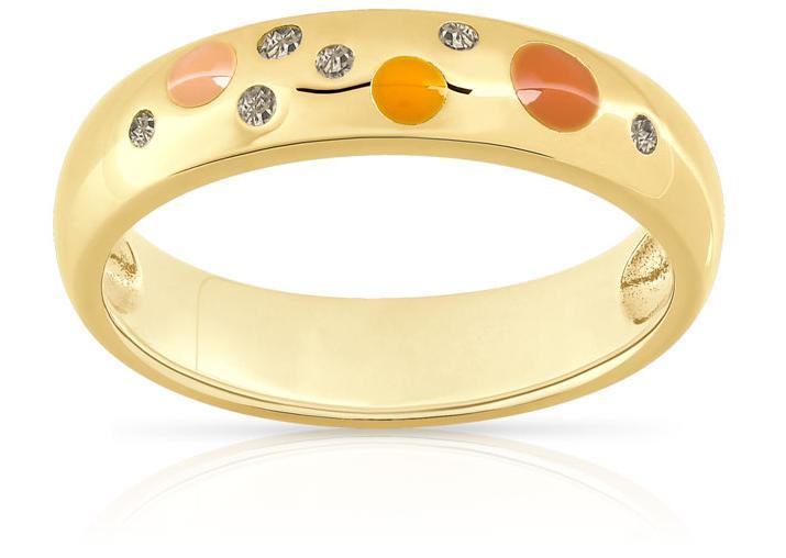 Sélection de bijoux en promotion - Ex : bague (or 375 + diamant ambré, du 49 au 52)