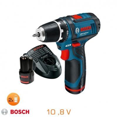 Perceuse-visseuse Bosch GSR10 8-2-LI - 10,8V, 2 Batteries Li-Ion 1,5Ah + Chargeur