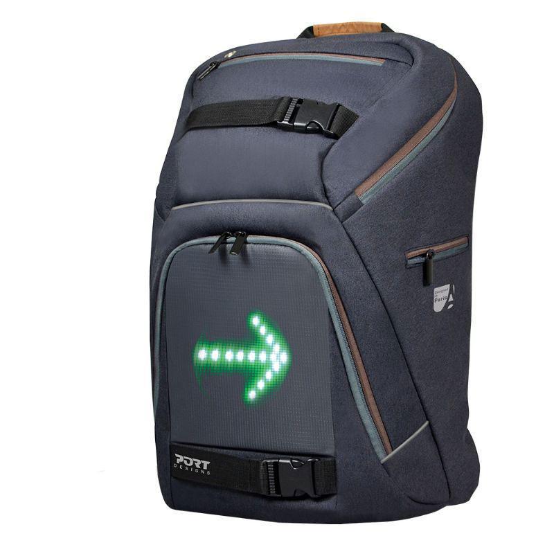 """Sac à dos pour ordinateur portable 15.6"""" Port Designs Go LED avec système de clignotants"""