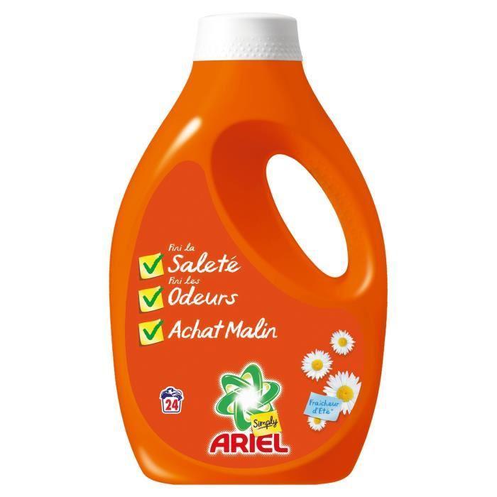 Lessive liquide Ariel Simply 33 Lavages (Avec 2.78€ sur la carte)