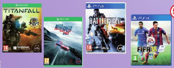 Sélection de jeux PS4 et Xbox One (Battlefield 4, Need For Speed Rivals...)