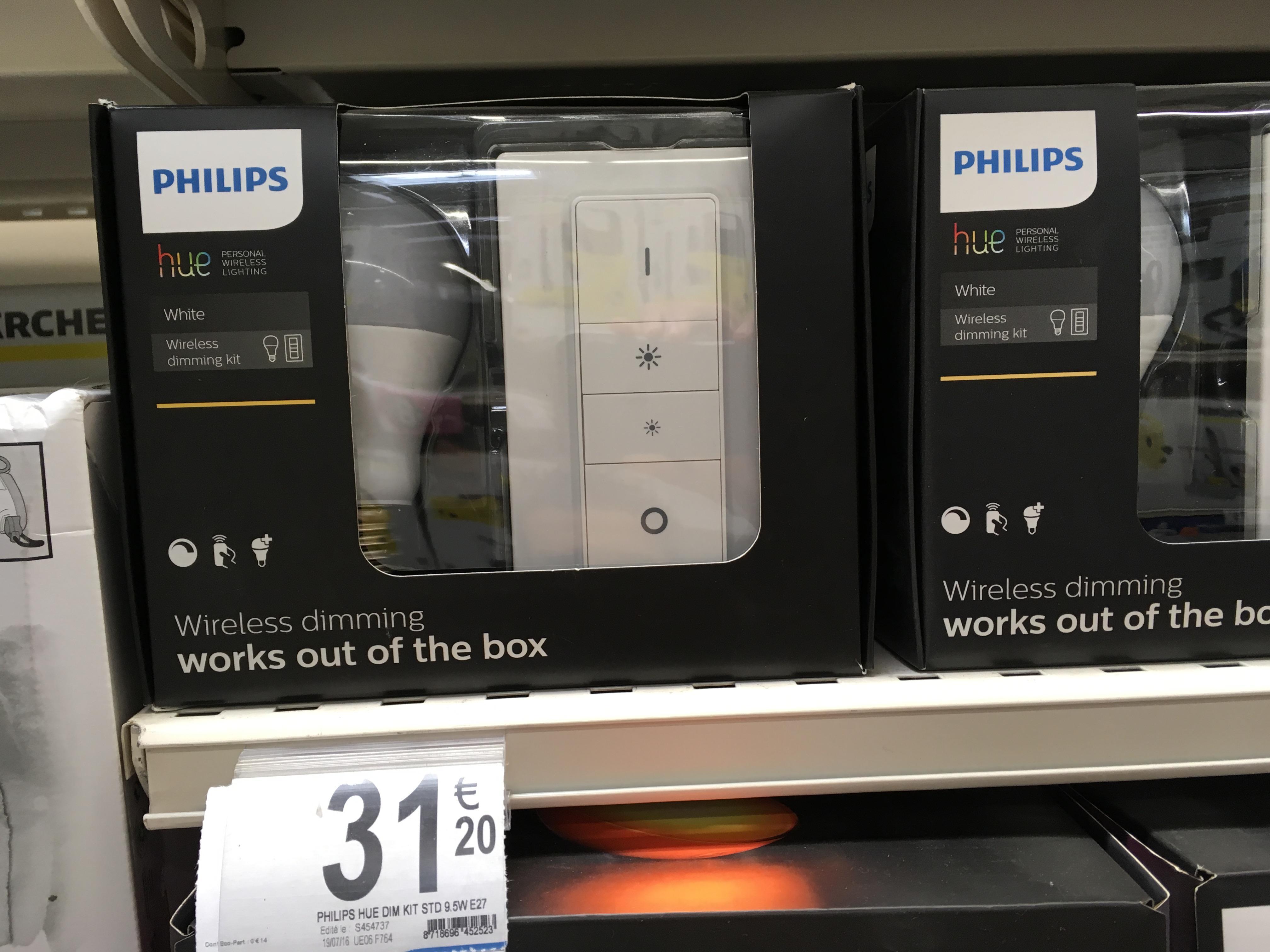 Kit Philips Hue Wireless Dimming (Ampoule E27 + Variateur d'intensité)