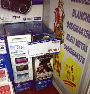 Pack Sony PS Vita Wi-Fi + Carte Mémoire 4 Go + Assassin's Creed Liberation
