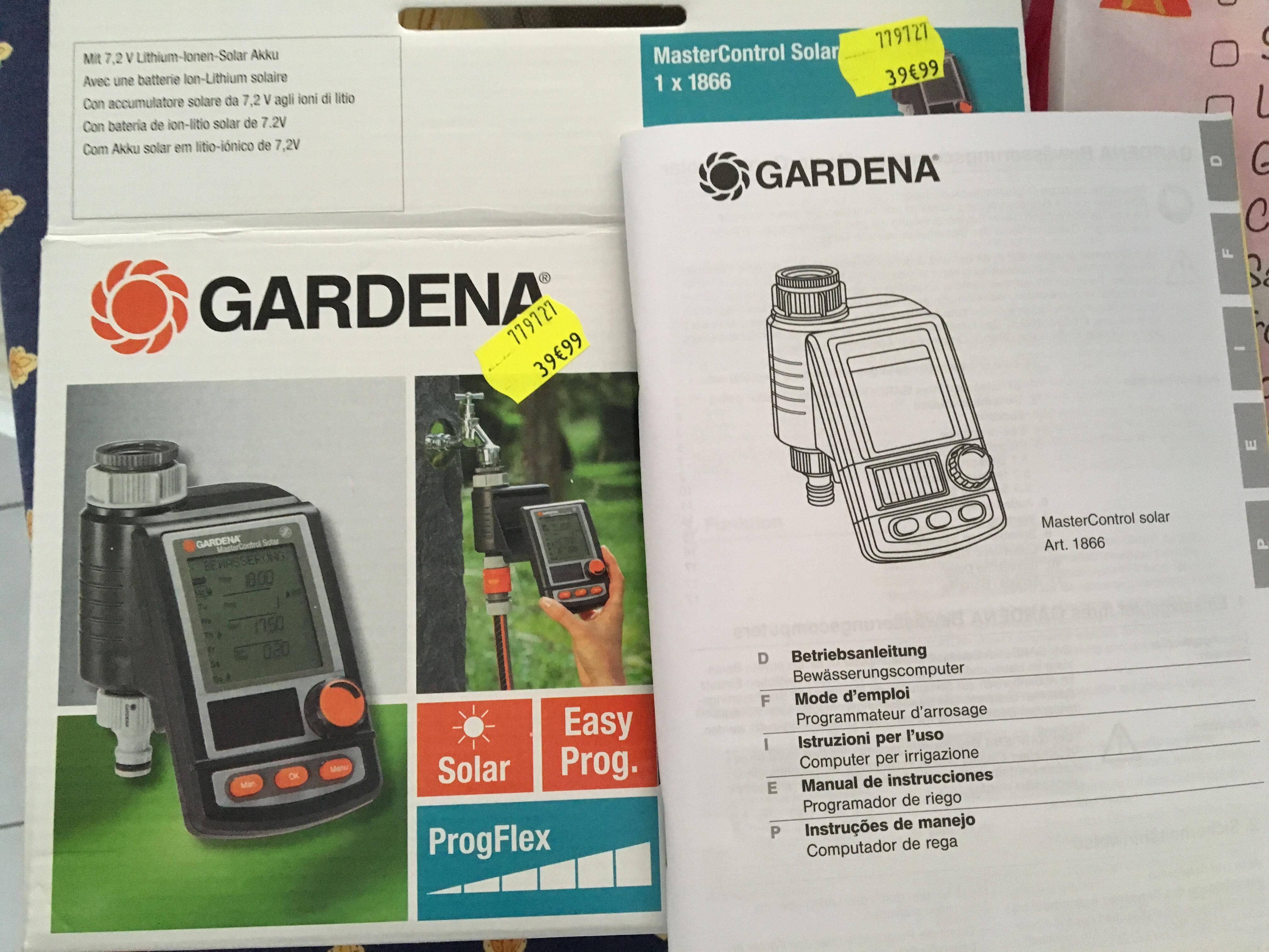 Programmateur d'arrosage Gardena Mastercontrol Solar Plus C1060 1866
