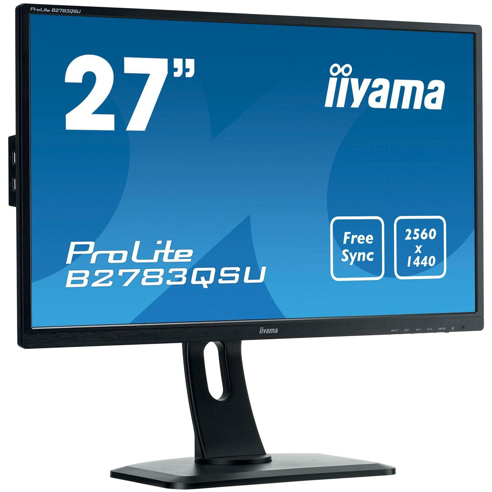 """Ecran LED PC 27"""" iiYama ProLite B2783QSU-B1 (2560x1440)"""