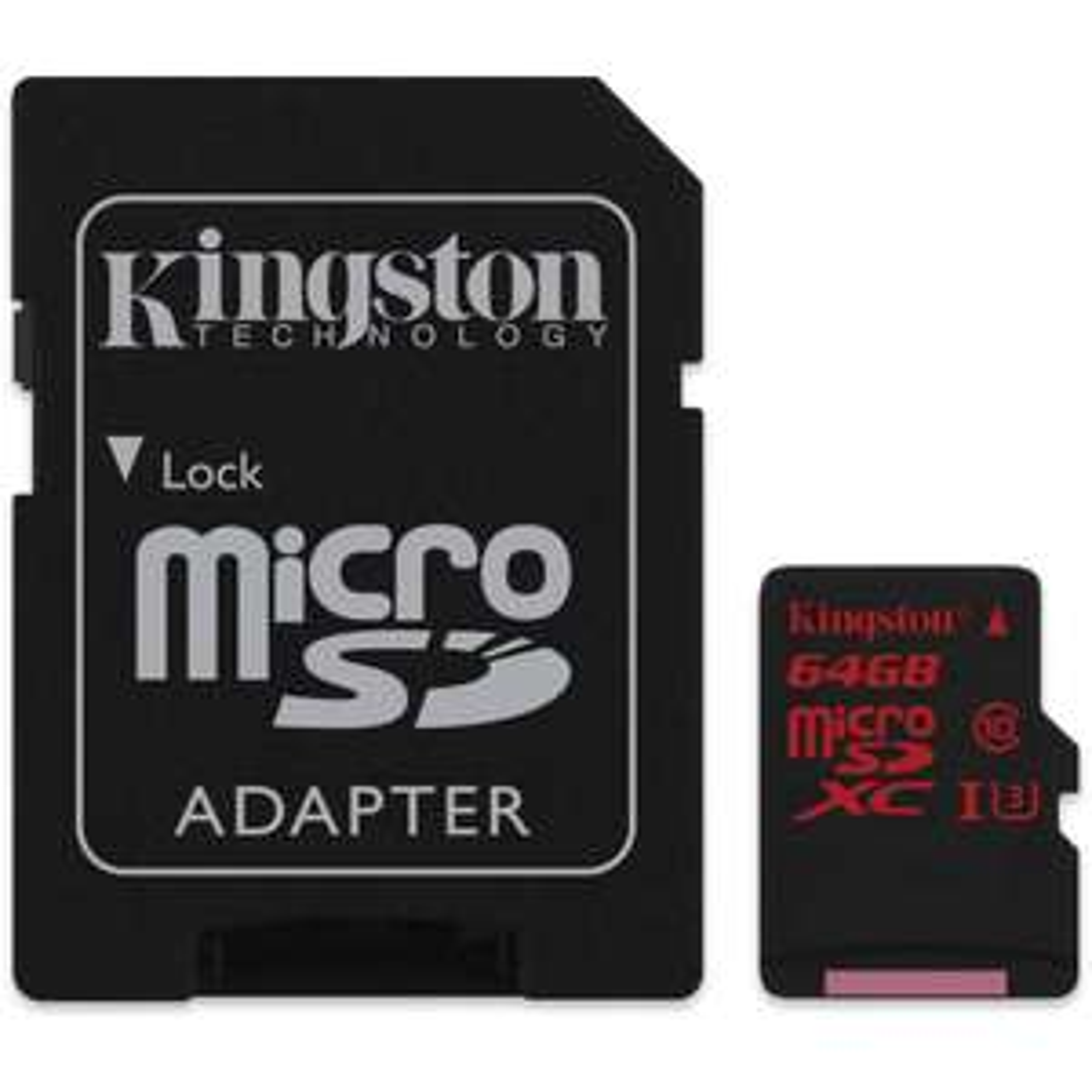 Carte microSDXC Kingston UHS-1 U3 - 64 Go + Adaptateur SD