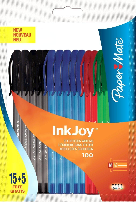 [Panier Plus] Lot de 20 stylos bille Papermate Inkjoy 100St