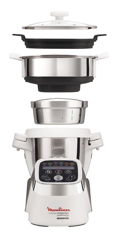 Pack Robot Moulinex Companion HF802AK2 + Cuiseur Vapeur