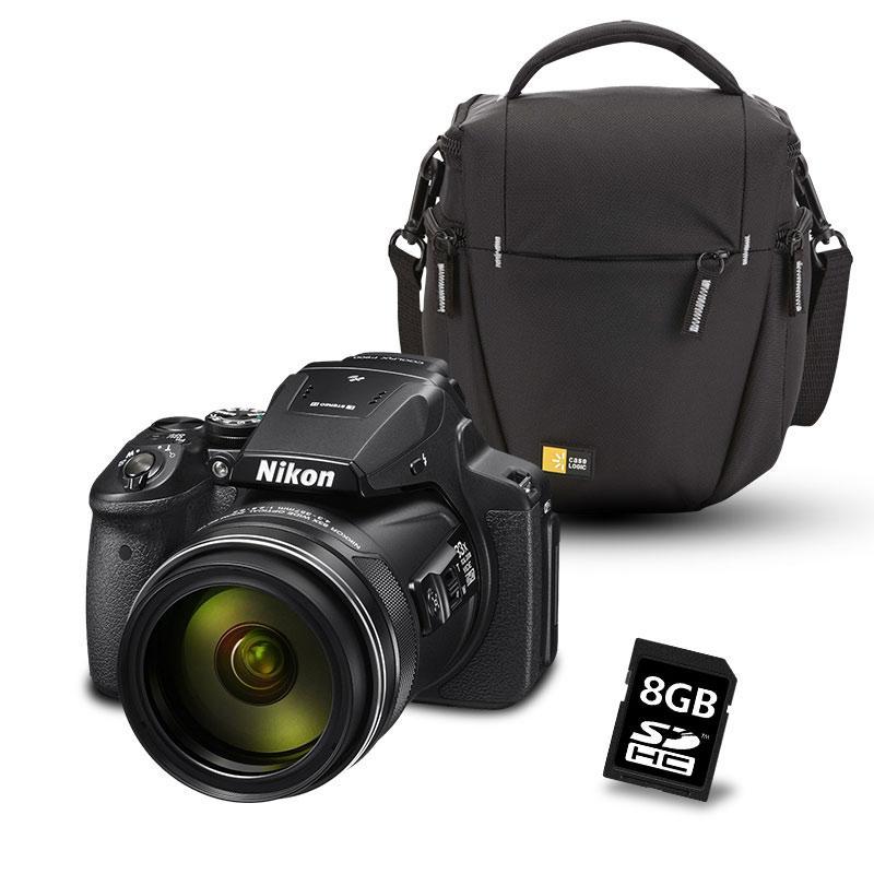 Appareil photo Bridge Nikon Coolpix P900 Noir + Sacoche + Carte SD 8 Go