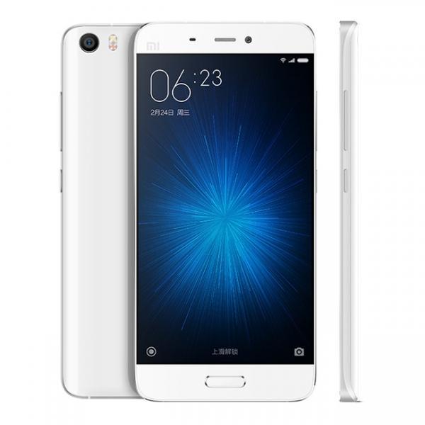 "Smartphone 5.15"" Xiaomi Mi5 (Double SIM, 3 Go de RAM, 32 Go) Blanc ou Or"