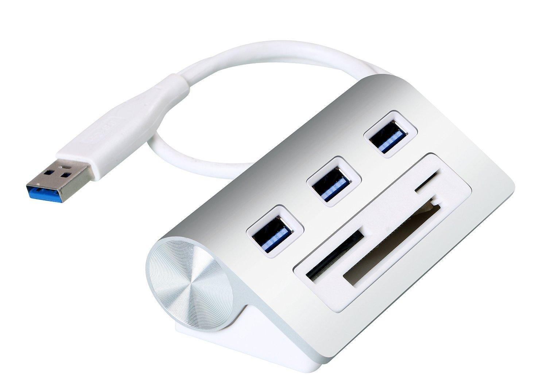 Hub USB 3.0 Cateck - 3 ports USB + Lecteur de cartes
