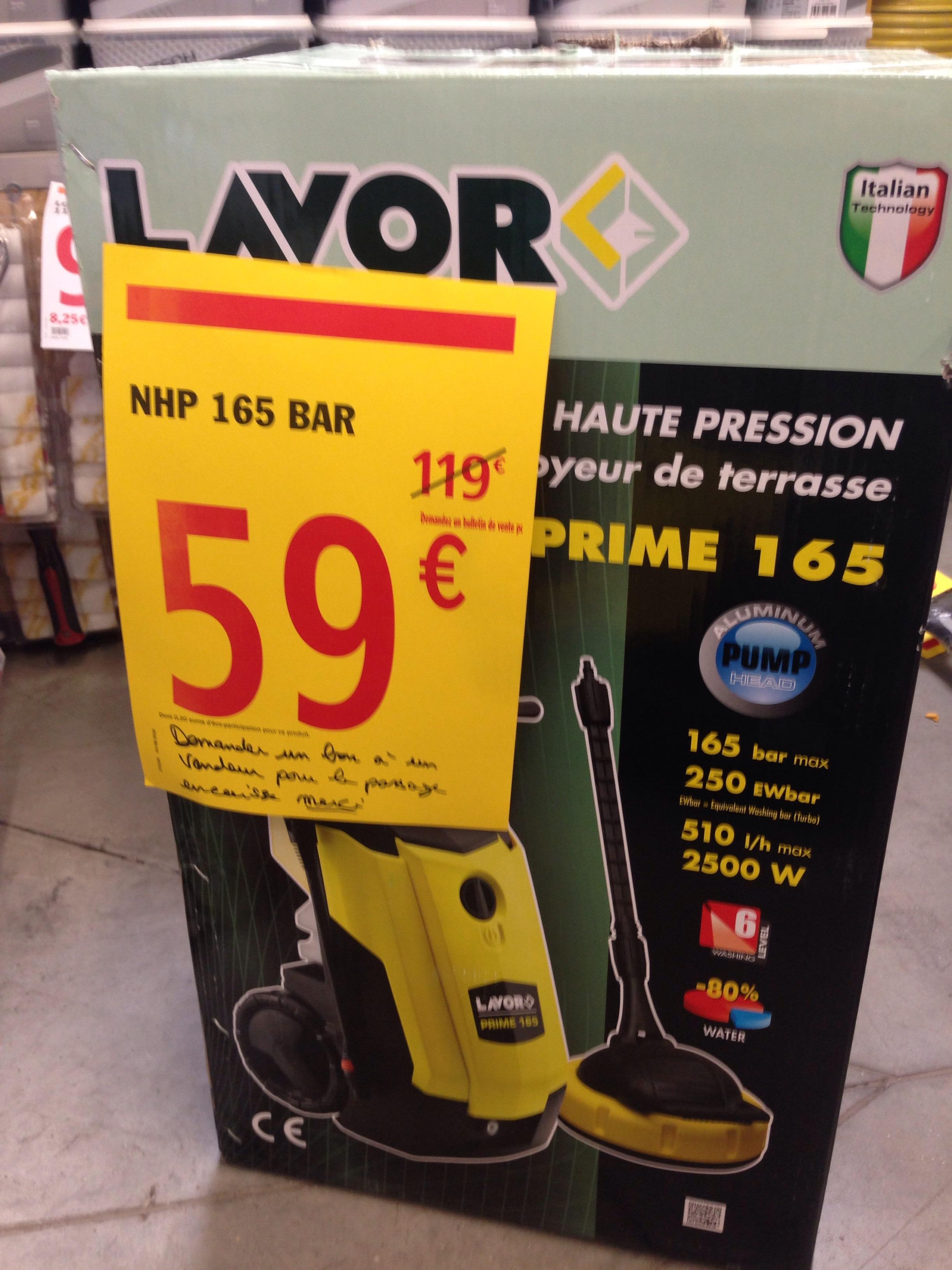 Nettoyeur haute pression 165 bar - 2500W