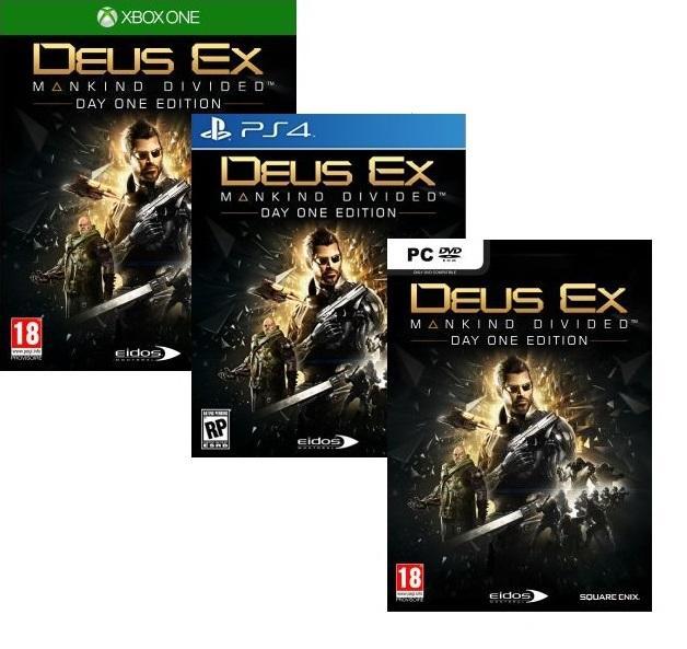 [Précommande] Deus Ex : Mankind Divided - Day One Edition sur PS4 et Xbox One à 49.90€ ou sur PC
