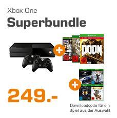Pack Console Xbox One 500Go + 2ème.Contrôleur + Doom UAC + GTA 5 + Fallout 4 + 1 jeu au choix ( Halo MCC, Tomb Raider, Rare Replay ou Forza 6)