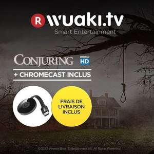 Google Chromecast 2 + Conjuring en location HD 48h