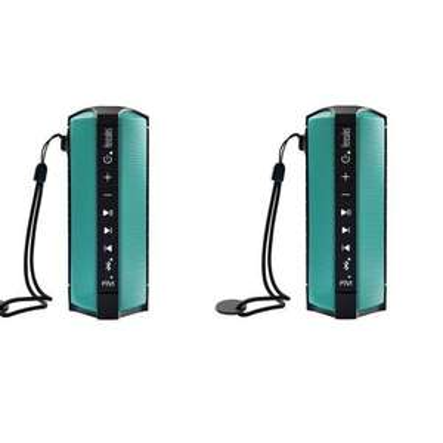 Lot de 2 Enceintes Sans-fil Hercules WAE Outdoor Rush – Waterproof / Oceanproof, Tuner FM, Bluetooth