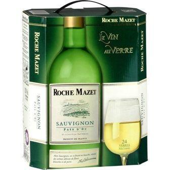 Cubi vin blanc Sauvignon Roche Mazet 3L (60€ de commande minimum)