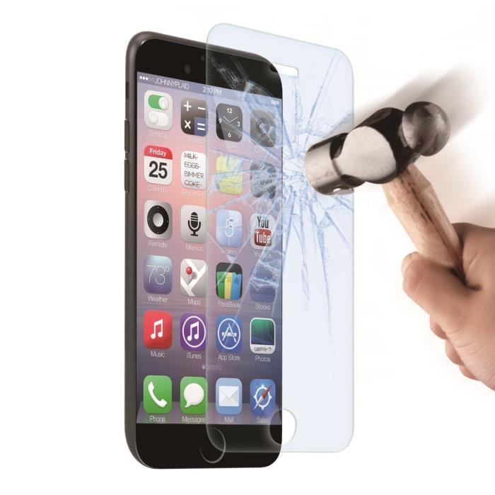 Film protecteur verre trempé Muvit pour iPhone 6/6S et 5/5S/5C
