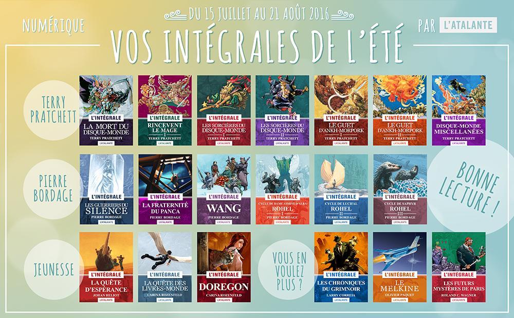 Sélection d'intégrales des éditions Atalantes en ebook en promotion - Ex : Rincevent I (Pratchett)