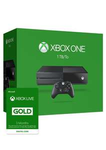 Console Microsoft Xbox One 1 To + Abonnement Xbox Live 3 Mois