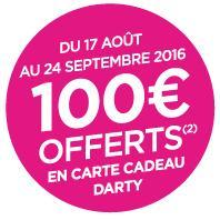 100€ offerts en carte cadeau Darty pour la souscription d'une Bbox Bouygues - Ex : Abonnement mensuel à Bbox Miami (location comprise)