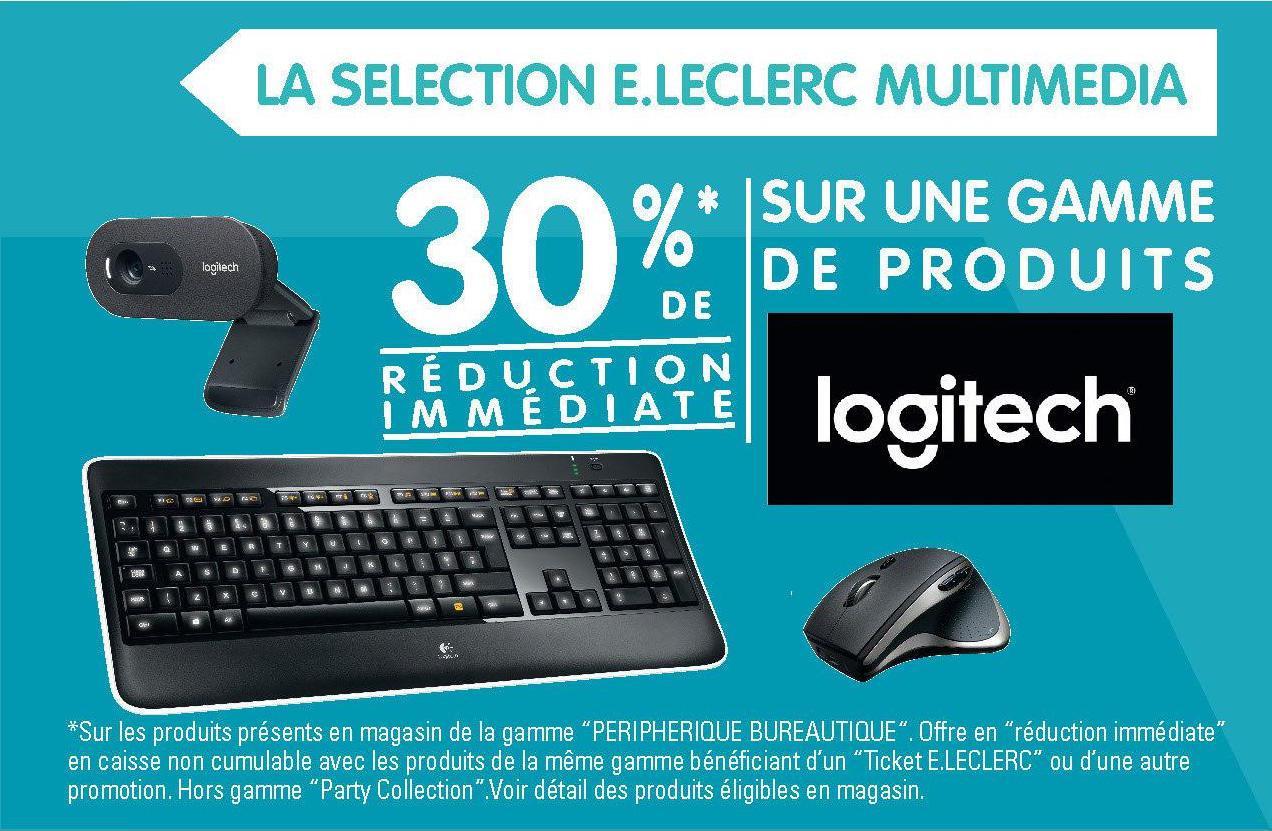 30% de réduction sur une sélection de claviers Logitech - Ex: Clavier Logitech sans fil K230