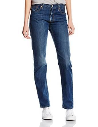 Sélection de Jeans Levi's 501 en promotion - Ex: Droit pour Femmes (Bleu Moon Shadow, Tailles :  25W/32L, 26W/32L ou 29W/32L)