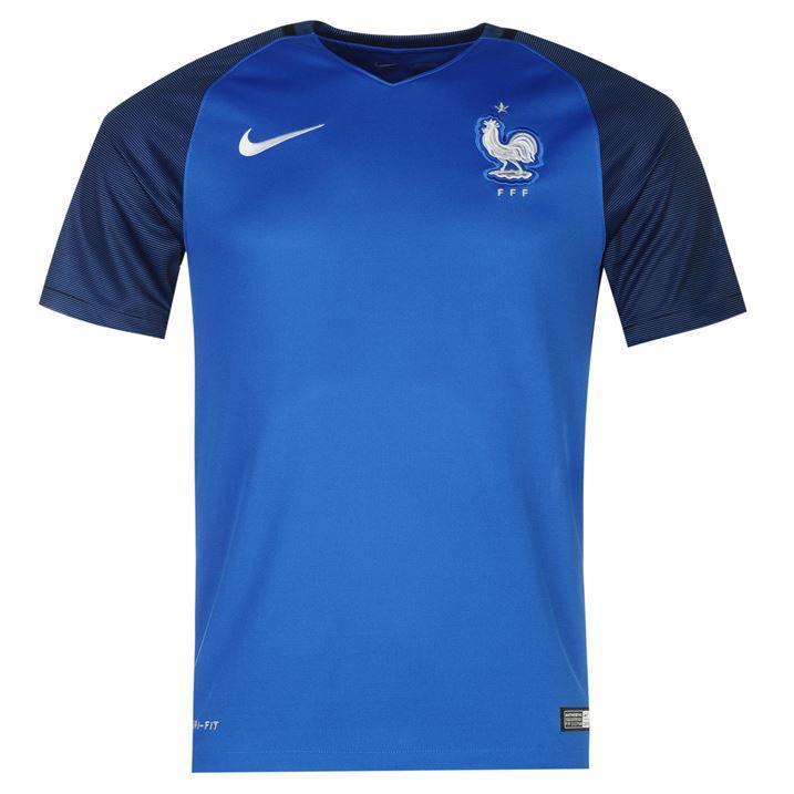 Sélection de Maillots des Équipes de France de Football ou de Rugby en promotion - Ex: Nike Football pour Hommes (Domicile ou Extérieur)