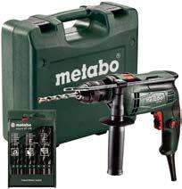 Perceuse à Percussion Metabo +  9 forets - 650W