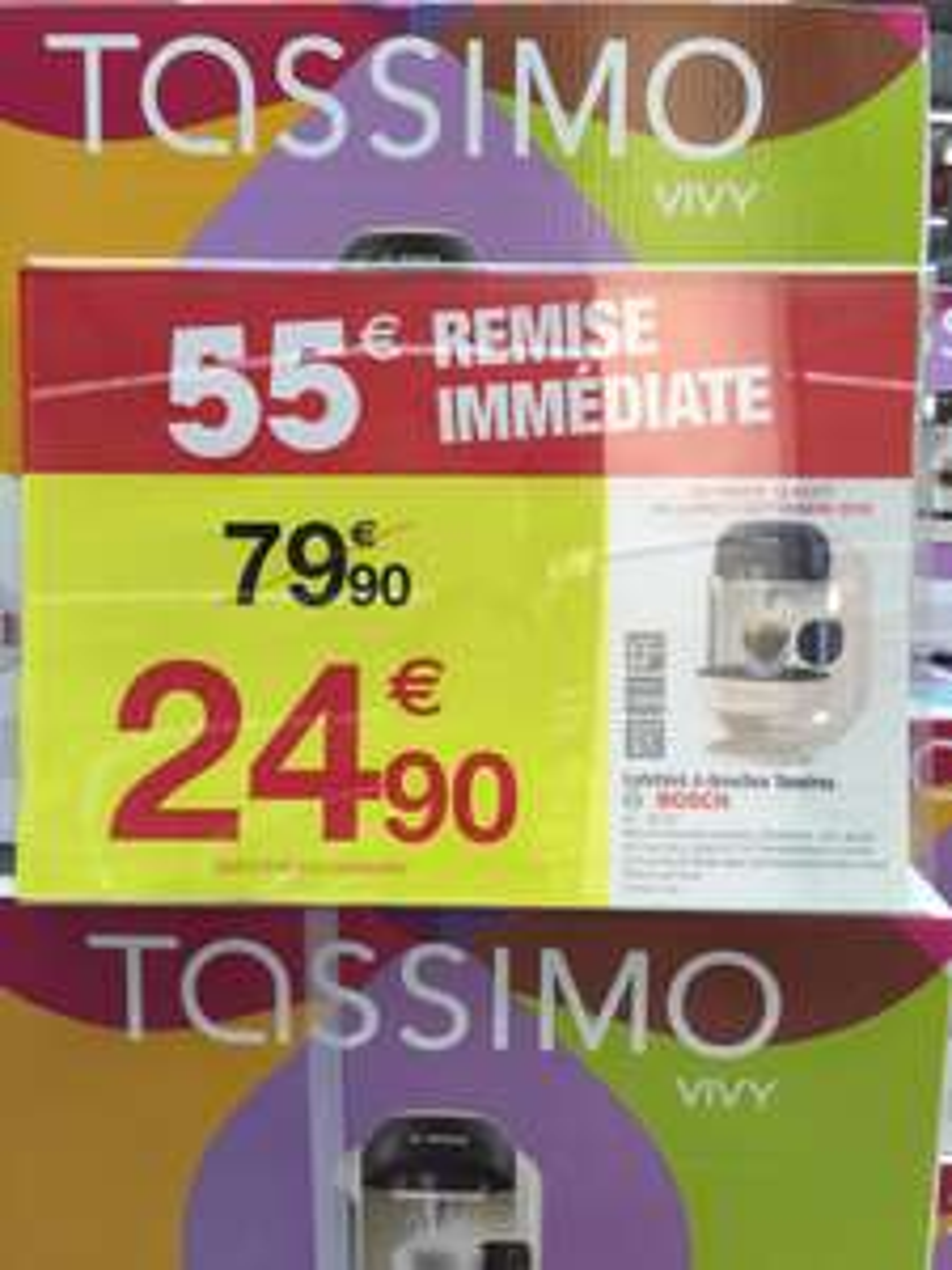 Cafetière à dosettes Bosch Tassimo Vivy TAS1257