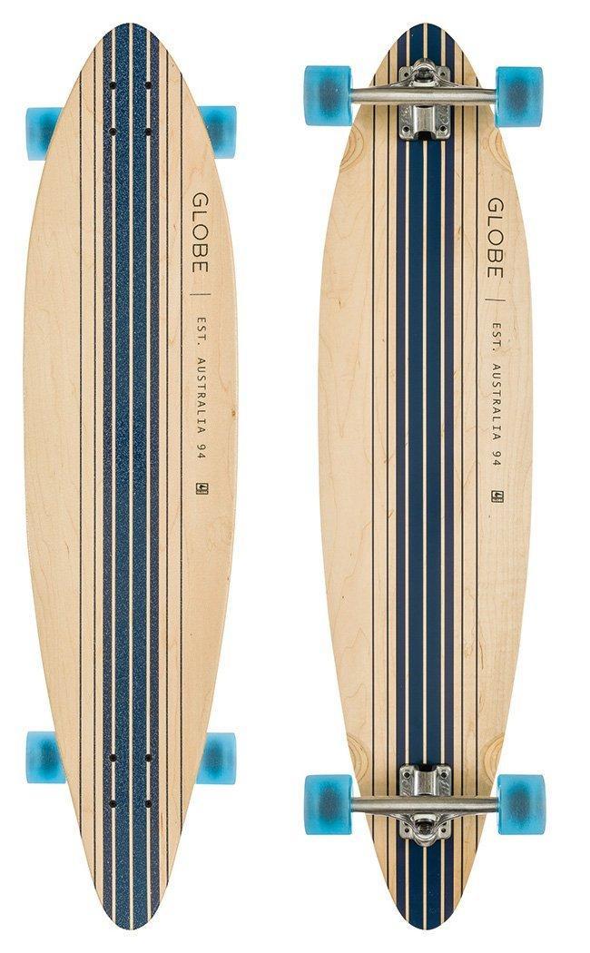 Longboard Globe Pinner - Natural / Bleu