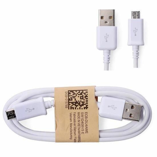Câble de Synchronisation USB blindé Voly Go4U pour Smartphones Samsung Galaxy - 1m