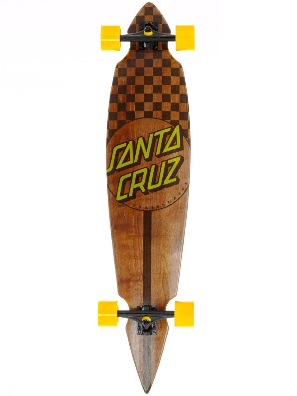 """Sélection de Longboards et skateboards SantaCruz en promotion - Ex : Longboard Check Stain Pintail, (9.3 x 43.5"""")"""