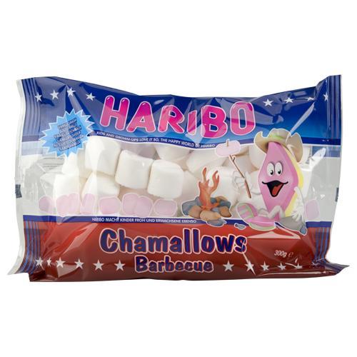 Paquet de bonbons Haribo chamallow barbecue - 300g, vanille