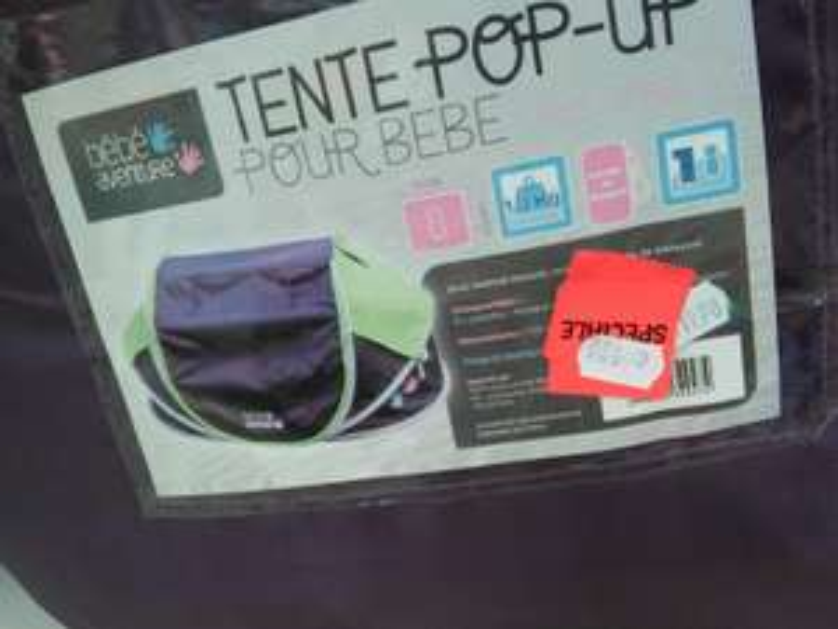 Tente Bébé Aventure Pop-Up pour bébé