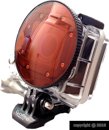 Filtre rouge SRP Dôme pour GoPro Hero3 (Pour la plongée)