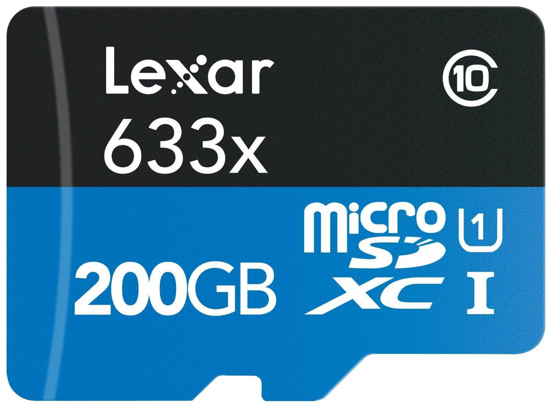 Carte microSDXC Lexar High-Performance 633x 200Go