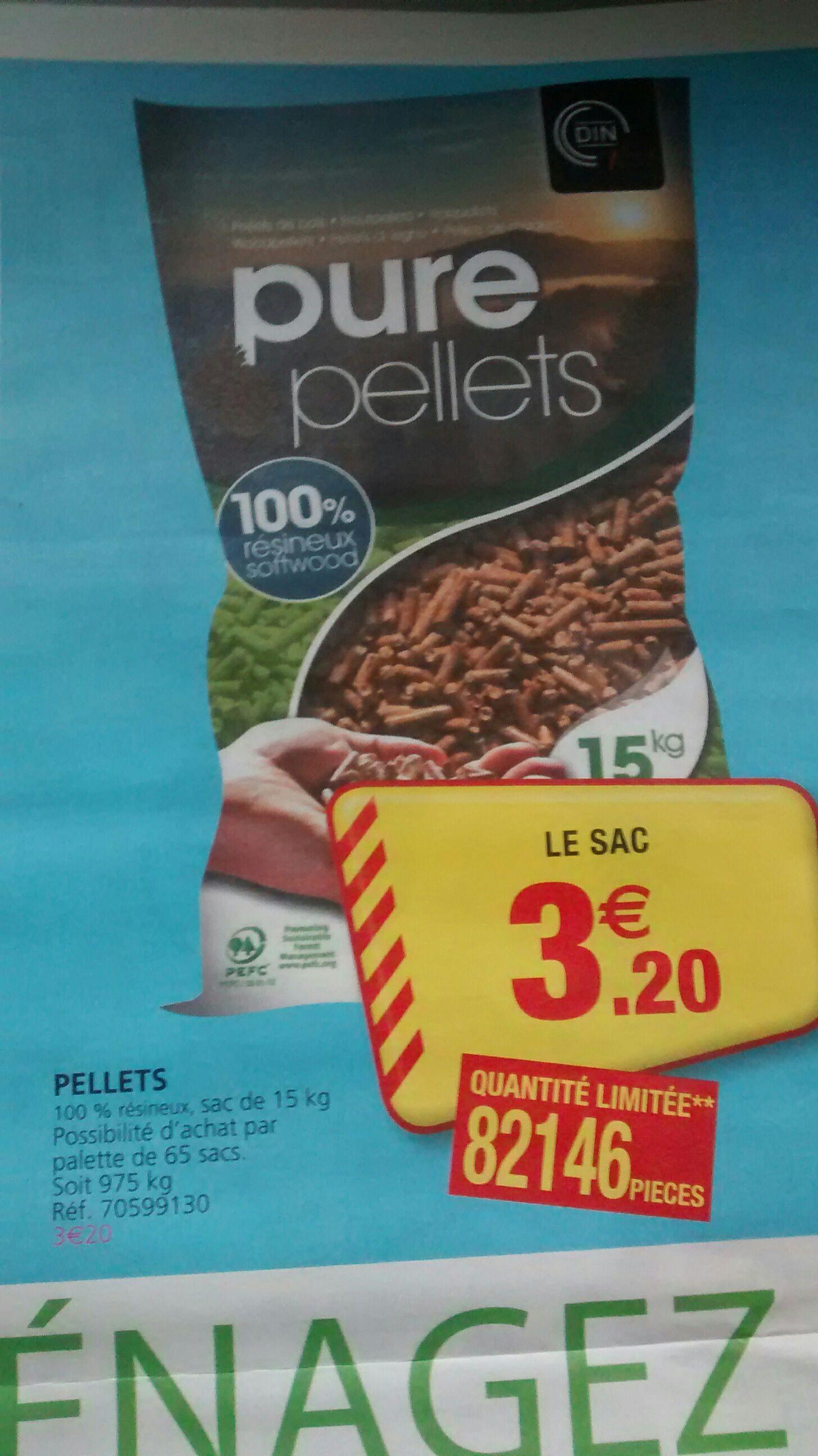 Sac Pure Pellets 100% Résineux 15Kg