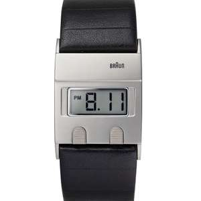 Montre Homme Braun BN0076SLBKG - Quartz Digital - Cadran Gris - Bracelet Cuir
