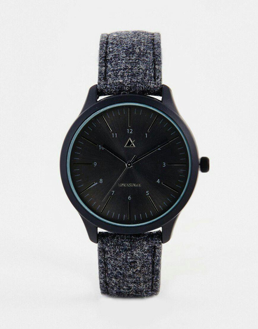 Montre Asos avec bracelet en feutre - Noir